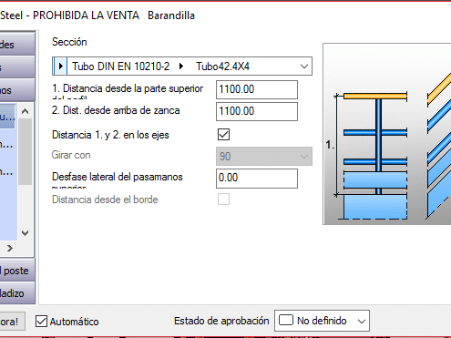 Configurador de barandillas Advance Steel