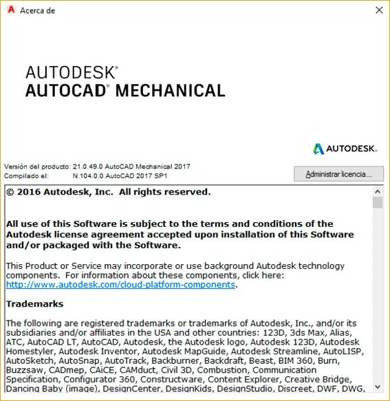 Acerca de AutoCAD Mechanical