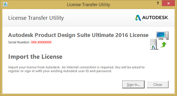 Autdesk License Transfer Utility