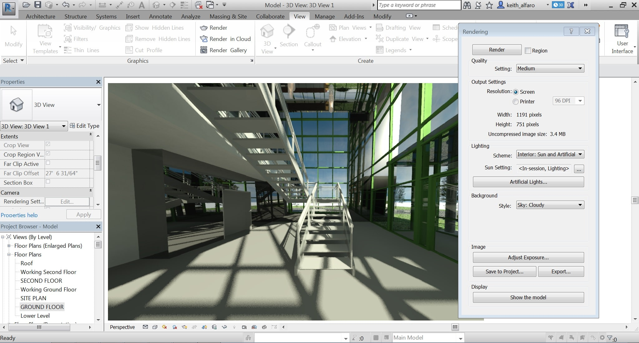 Autodesk Raytraces Revit